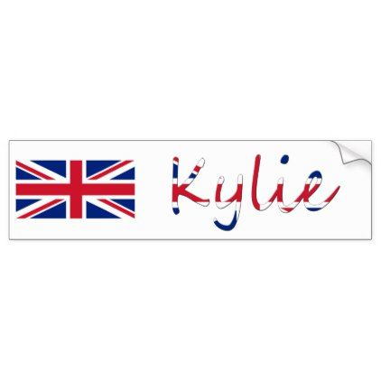 Personalized name overlaid on union jack b sticker sticker stickers custom unique cool diy