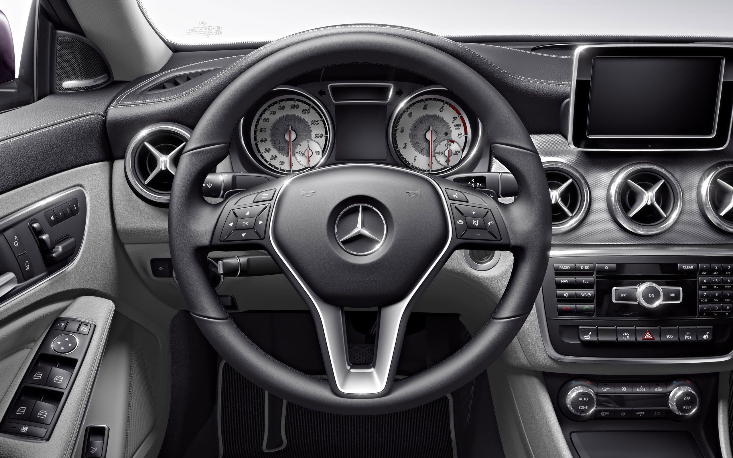 class cla interior mercedes of prodigous benz