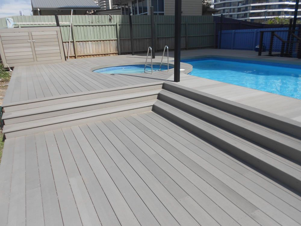 There Are Various Flooring Materials For Swimming Pools On The Market Nowadays More And More People Begin To Us Composite Decking Pool Composite Decking Deck