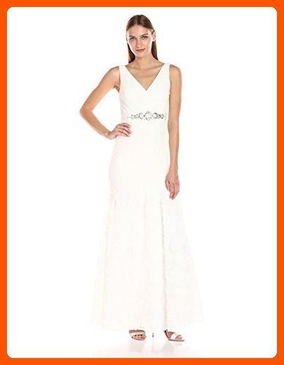 Adrianna Papell Women's Sleevless Tuille Chiffon Petal ...