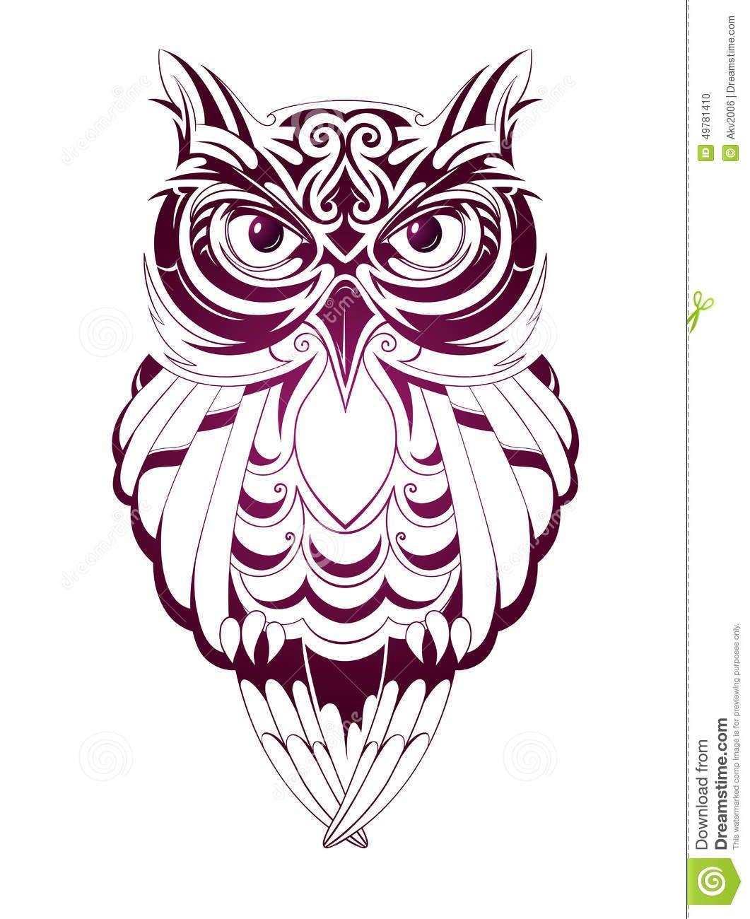 Owl Tattoo Owl Tattoo Geometric Owl Tattoo Tribal Owl Tattoos