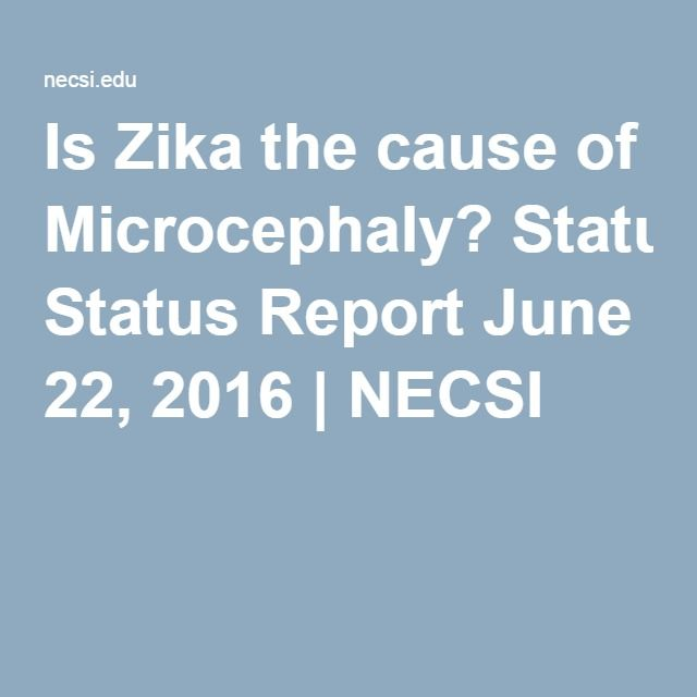 Is Zika the cause of Microcephaly? Status Report June 22, 2016 | NECSI