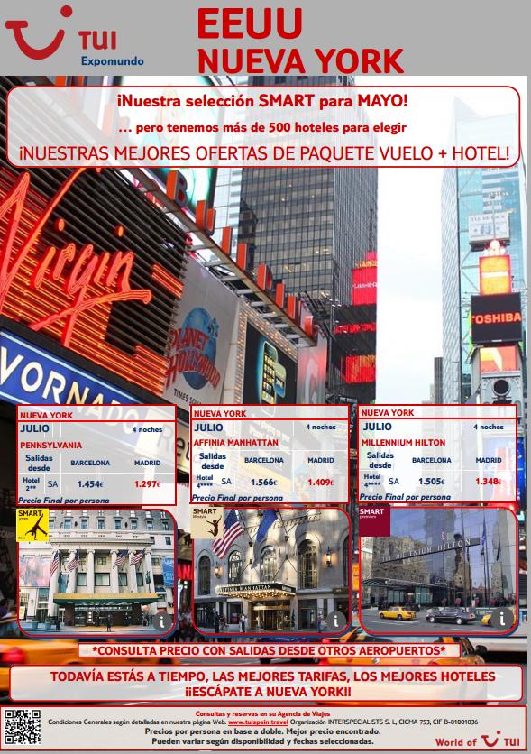 Aún hay tiempo para viajar a #Nuevayork en #Mayo con nuestra #oferta smart de #vuelo y  #hotel