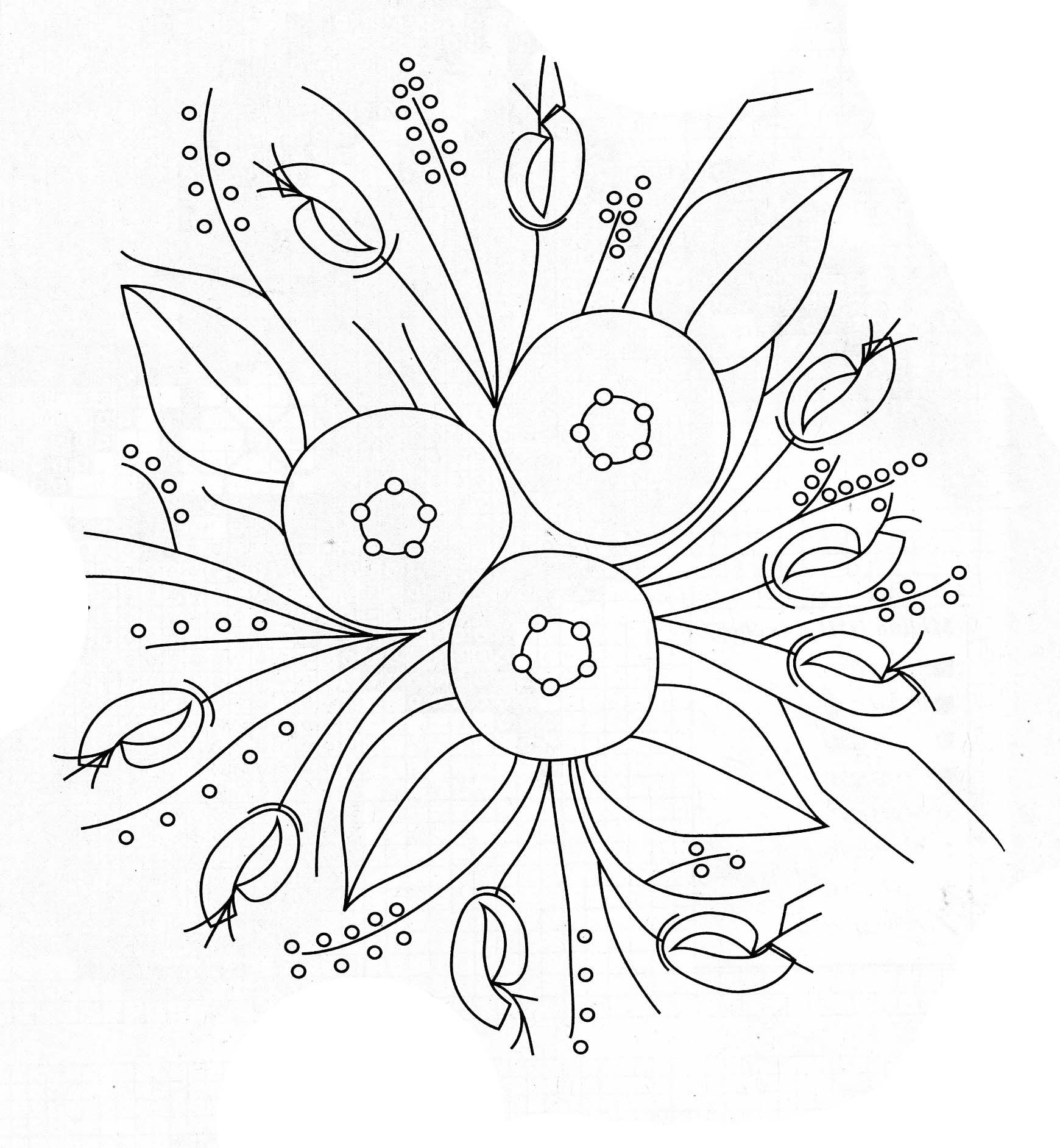 Flower Embroidery Patterns Magnificent Ideas