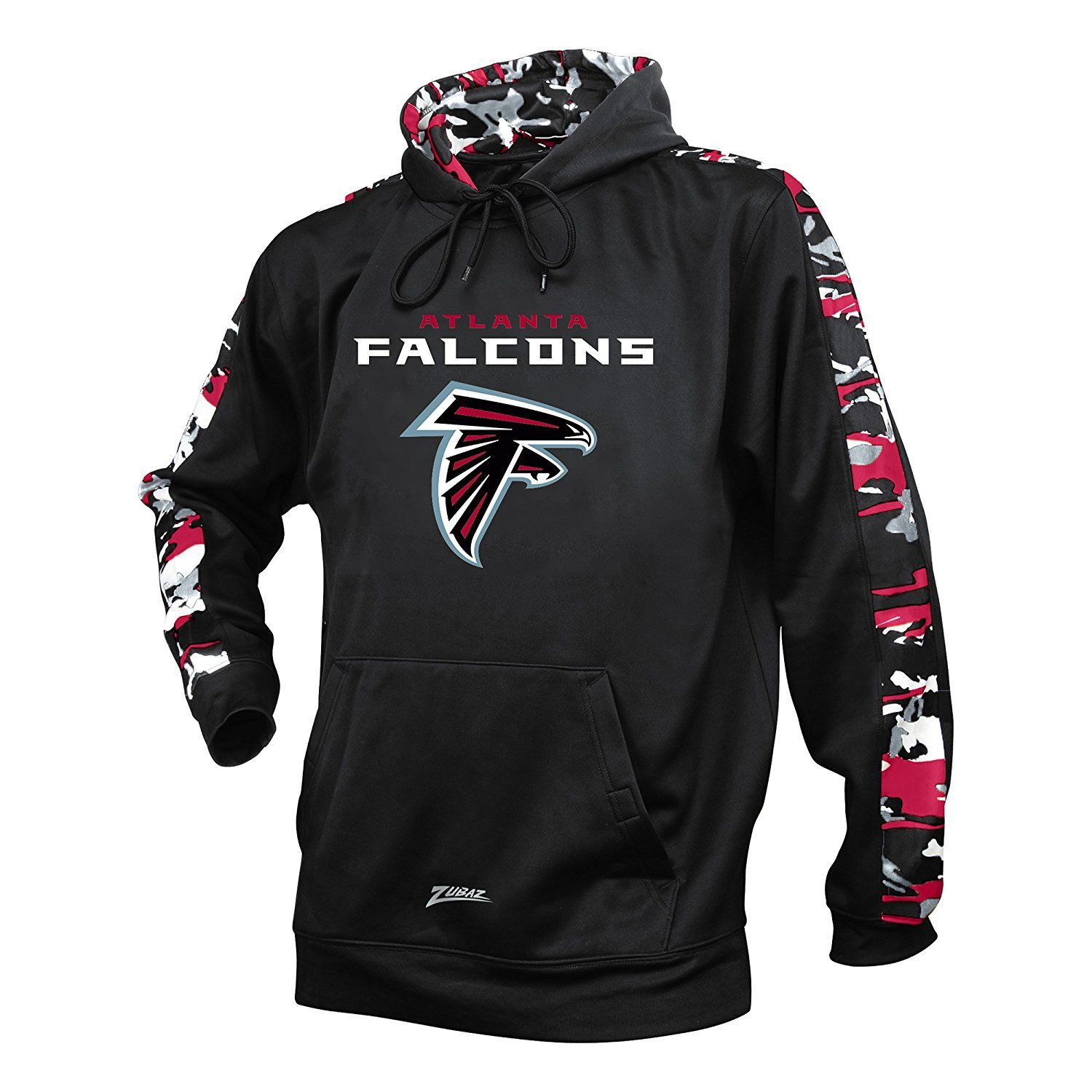 Amazon Com Men S Nfl Camo Print Accent Team Logo Synthetic Hoodie Sports Outdoors Atlanta Falcons Hoodies Camo Print