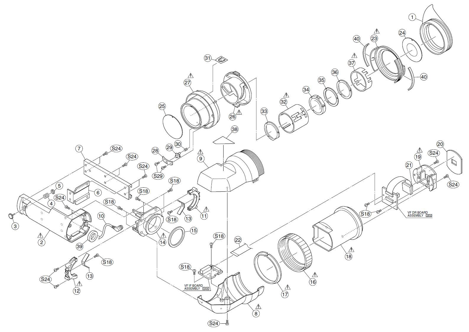 Camcorder Exploded Diagram