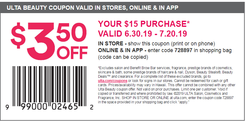 Ulta Coupon Code 20 Off Entire Order [ October 2019 (With