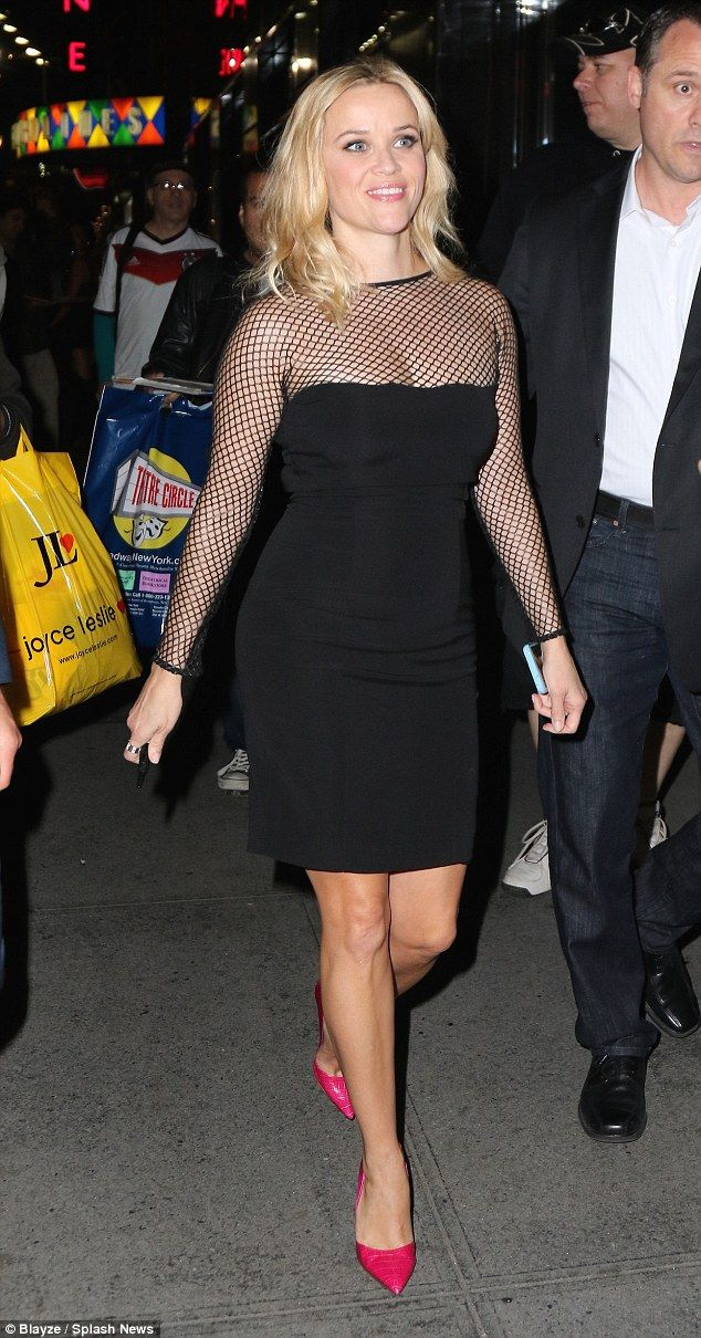 Reese Witherspoon Looks Sophisticated As Ever In A Sexy Mesh Dress