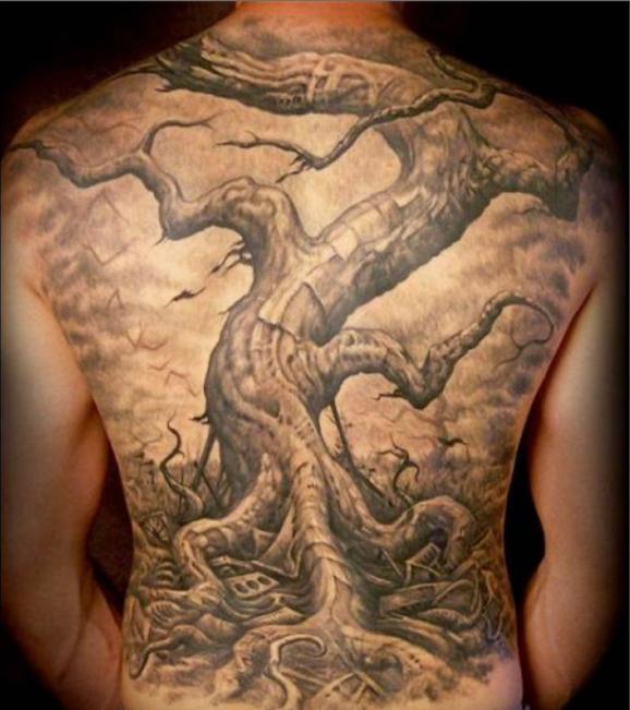 Beautiful Tree Tattoos Part 1 Oak tree tattoo, Dead tree