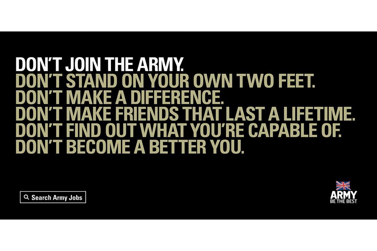 Army advert