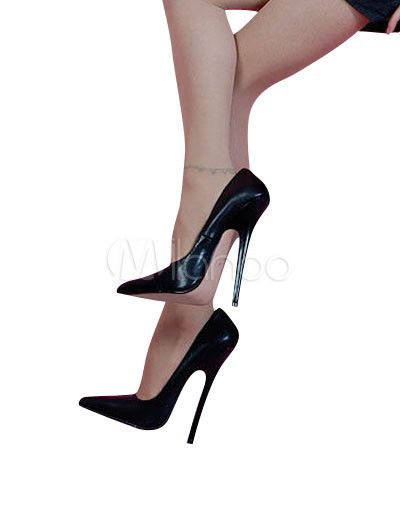 High Heel Black Cowhide Pumps | Pump Sale items and Heels
