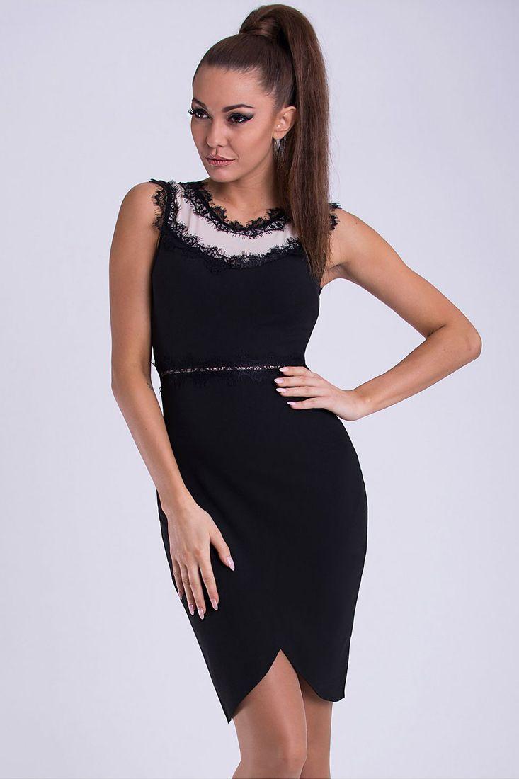 a34c52e29c29 Black and White Lace Trim Dress - Little Black Dresses Johannesburg ...