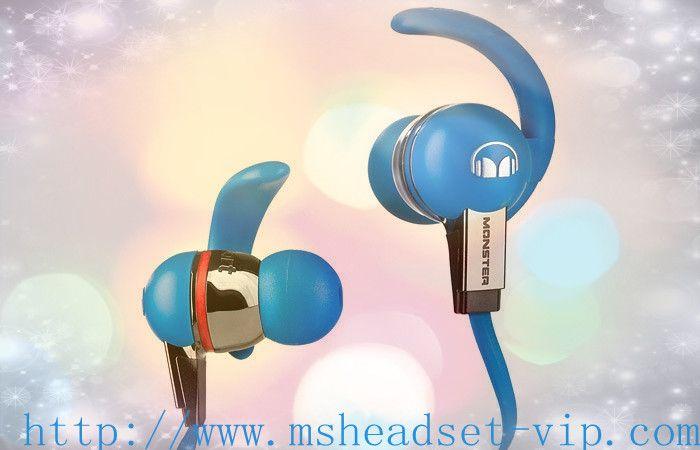 Monster Beats iSport Headphones With ControlTalk Blue1