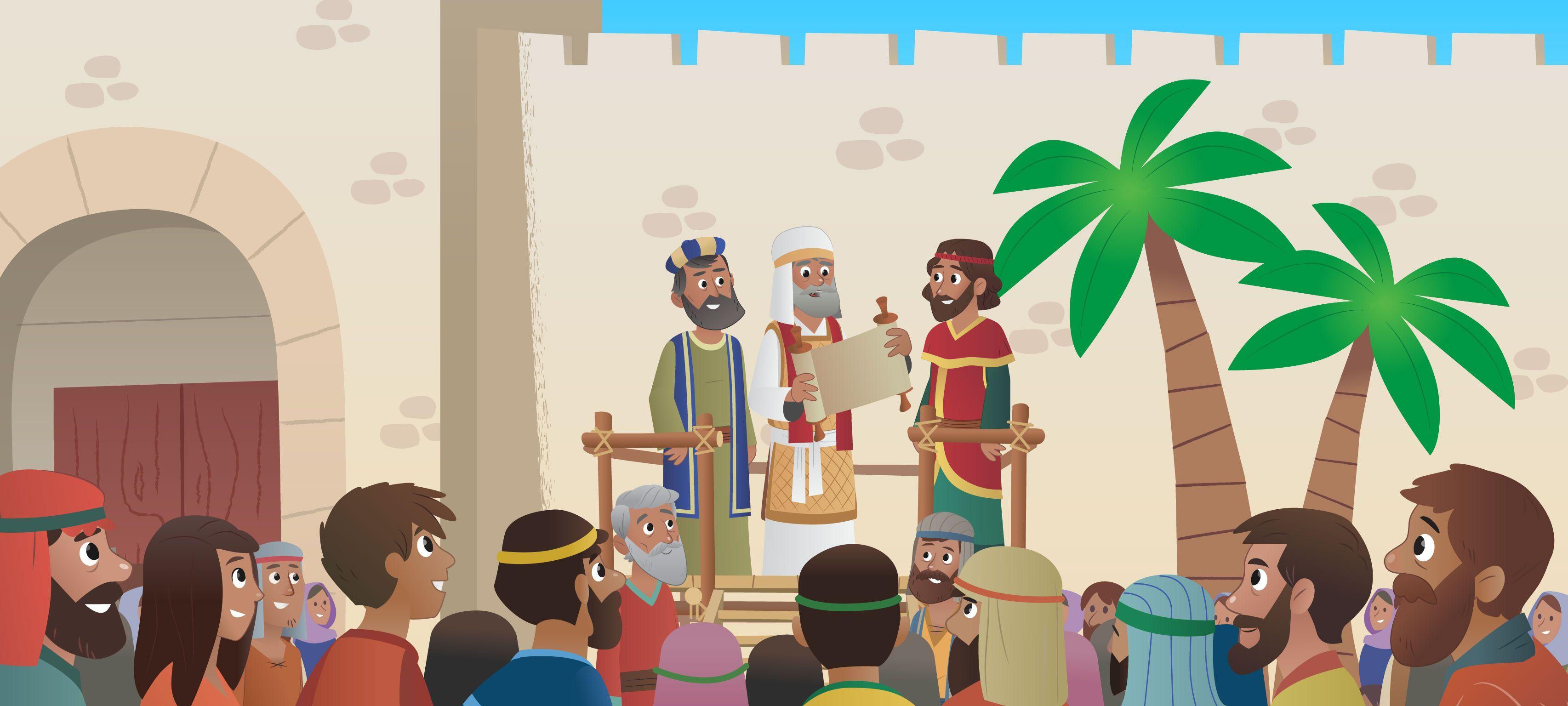 TheWallsGoUp_Scene6_FINAL Estudios bíblicos para niños