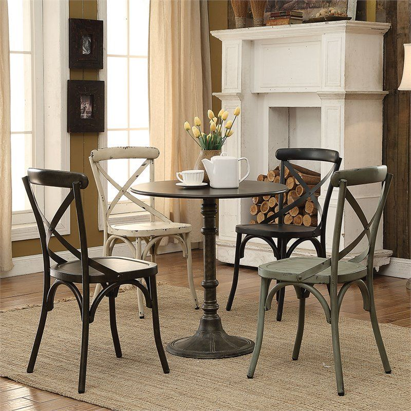 Coaster Company Dining Table Bronze Walmart Com In 2021 Indoor Bistro Table Bistro Table Mismatched Dining Chairs