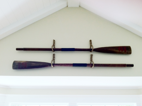 Hanging Oars With Rope