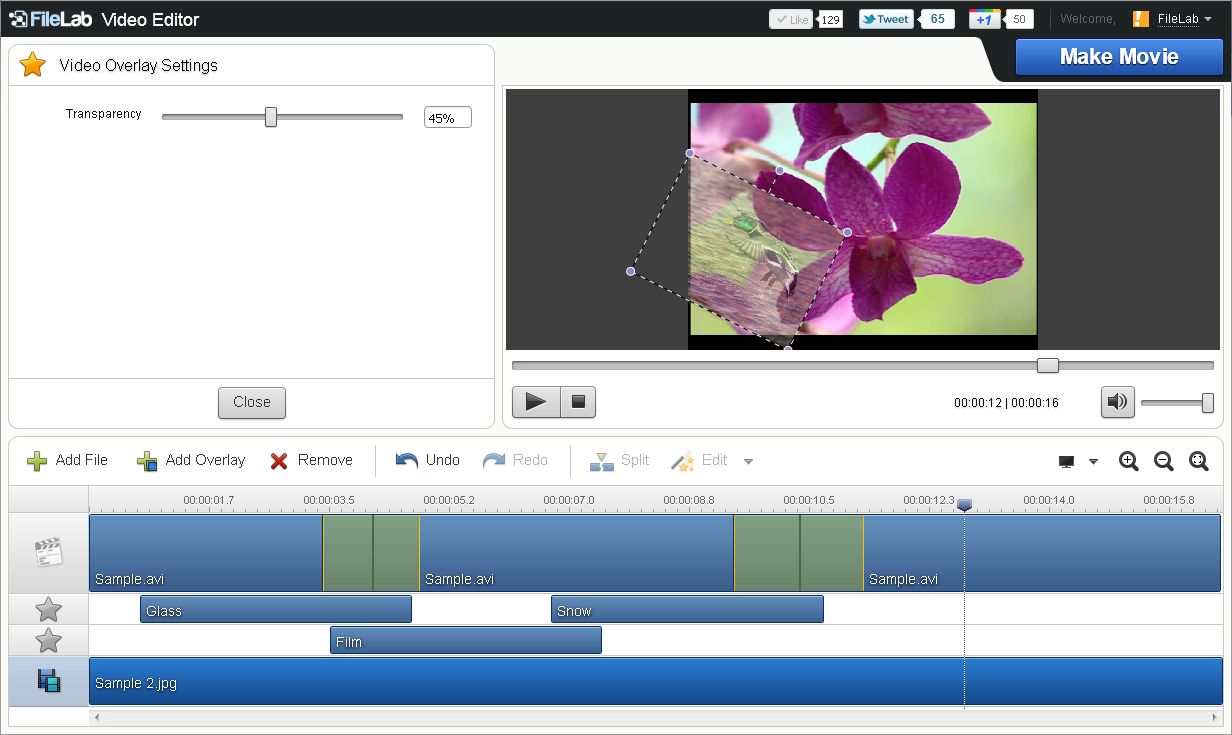 FileLab Video Editor: easily edit your video online for free