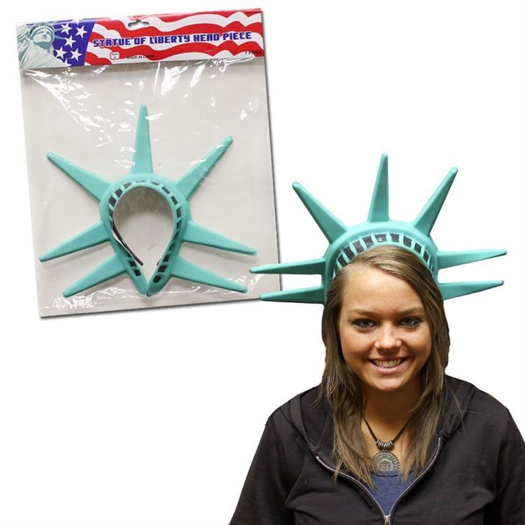 Statue of Liberty America USA Headpiece Torch Prop Fancy Dress Costume Accessory