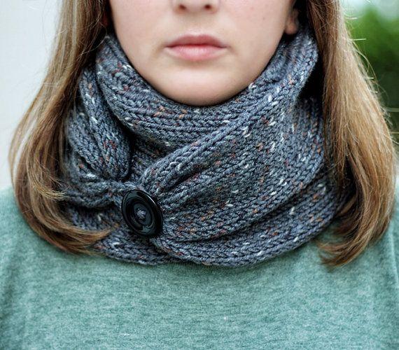 tricoter une echarpe avec un cercle