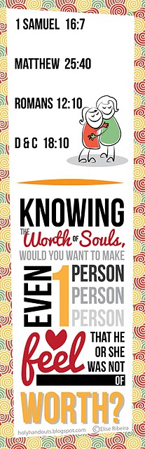 For those in the LDS YW program, I am creating handouts for most of the lessons from the current manual.  I felt sad only using them once, so now they are free for you to use!