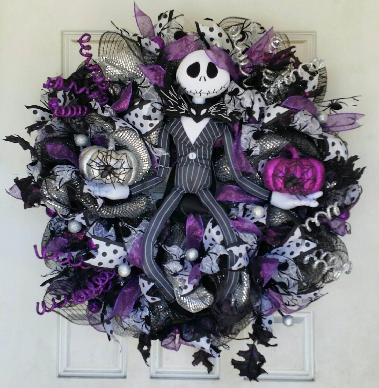 Jack Skellington Decorations Halloween Purple Jack Skellington Wreath Nightmare Before Christmas Nbc