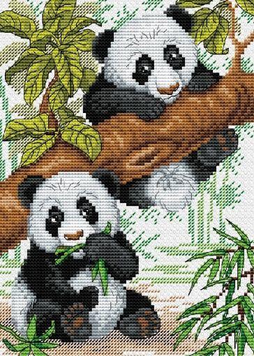 Photo of Naughty Pandas Cross Stitch Kit
