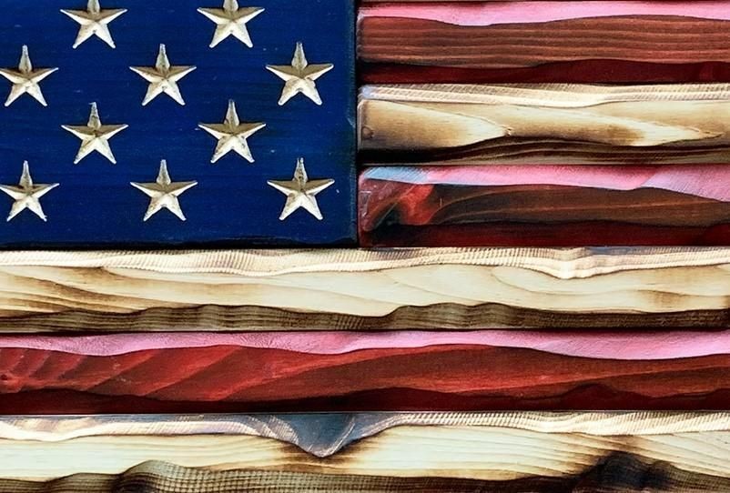 Homefront Old Glory Flag Rustic American Flag American Flag Art American Flag Wood
