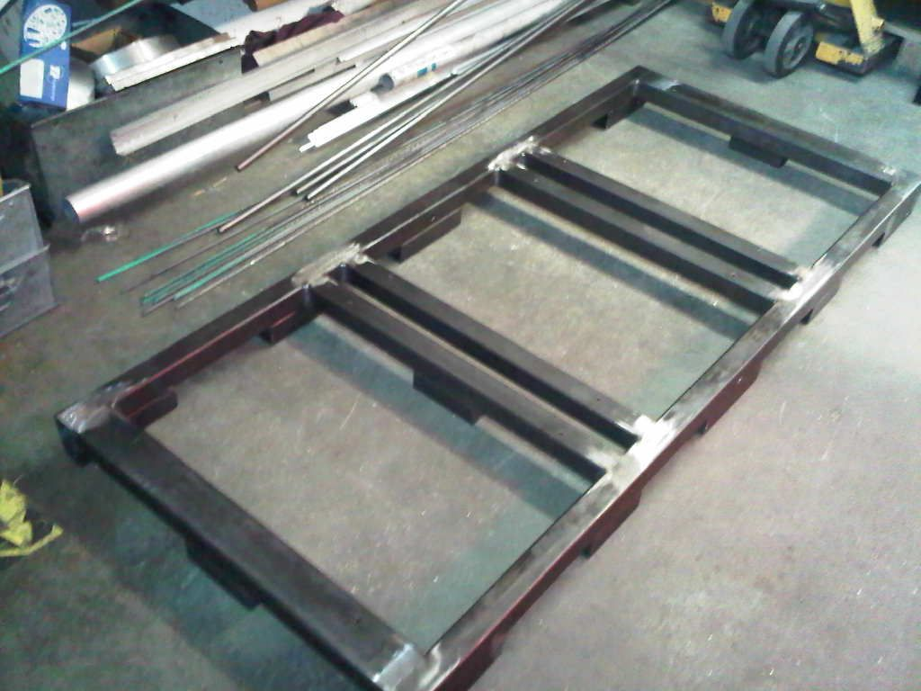 Steel Frame Work : Tubular mild steel frame work used to support electrical