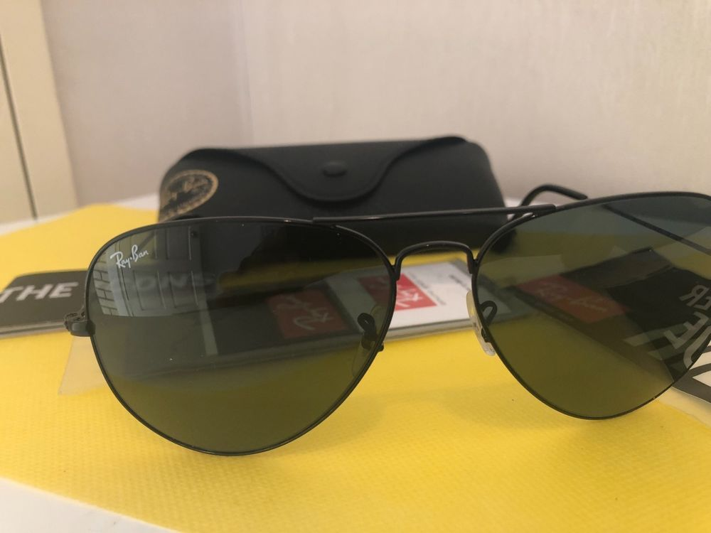 00aa9df131 Ray-Ban Sunglasses RB3026 - Aviator style Brand new Black frame Large Size   fashion