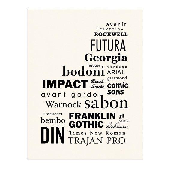 Font Poster I Like Georgia Futura And Trajan Pro For Creatively