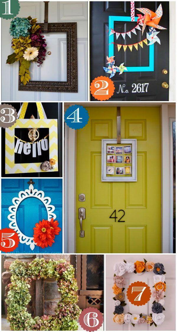 Decoraci n de puertas con marcos de fotos manualidades for Decoracion de marcos de puertas