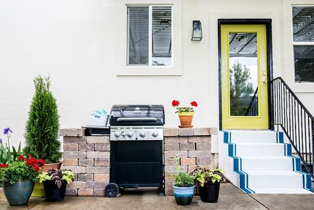 Best Lowe's Spring Makeover Patio Reveal Patio Painted 400 x 300