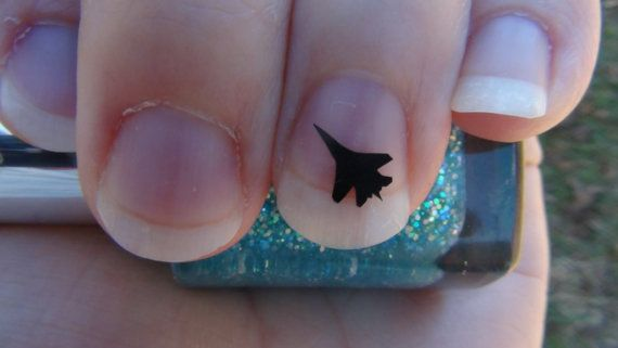 Jet Airplane Nail Art Decals Set Of 20 Vinyl By Trinitynails 1 99