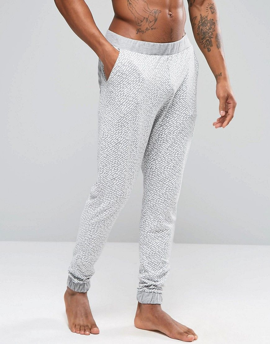 Image 1 ofASOS Loungewear Skinny Joggers In Lightweight Fabric With Brush Print