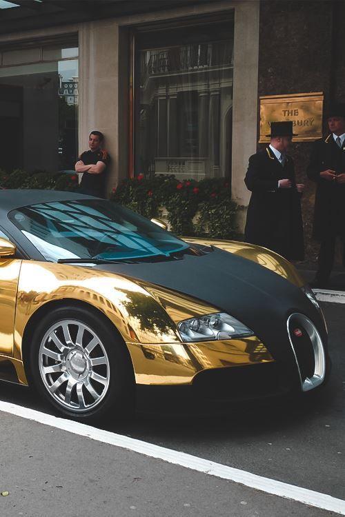 Bugatti Veyron Gold Popular Pins On Pinterest Sports