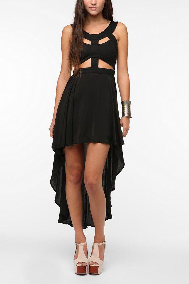 Reverse Cutout High/Low Dress
