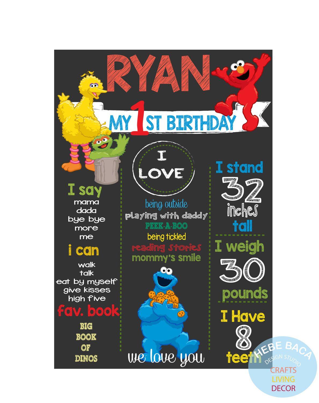 Sesame Street Milestone Board By Hebebacadesignstudio On