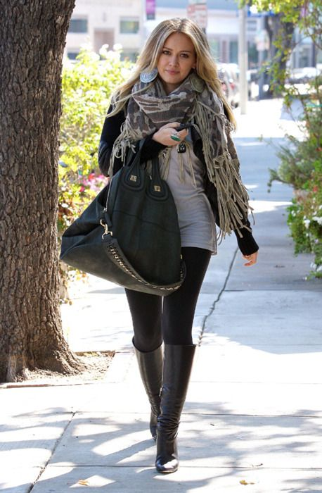 Hilary Duff-love her style so much! Hair too:)