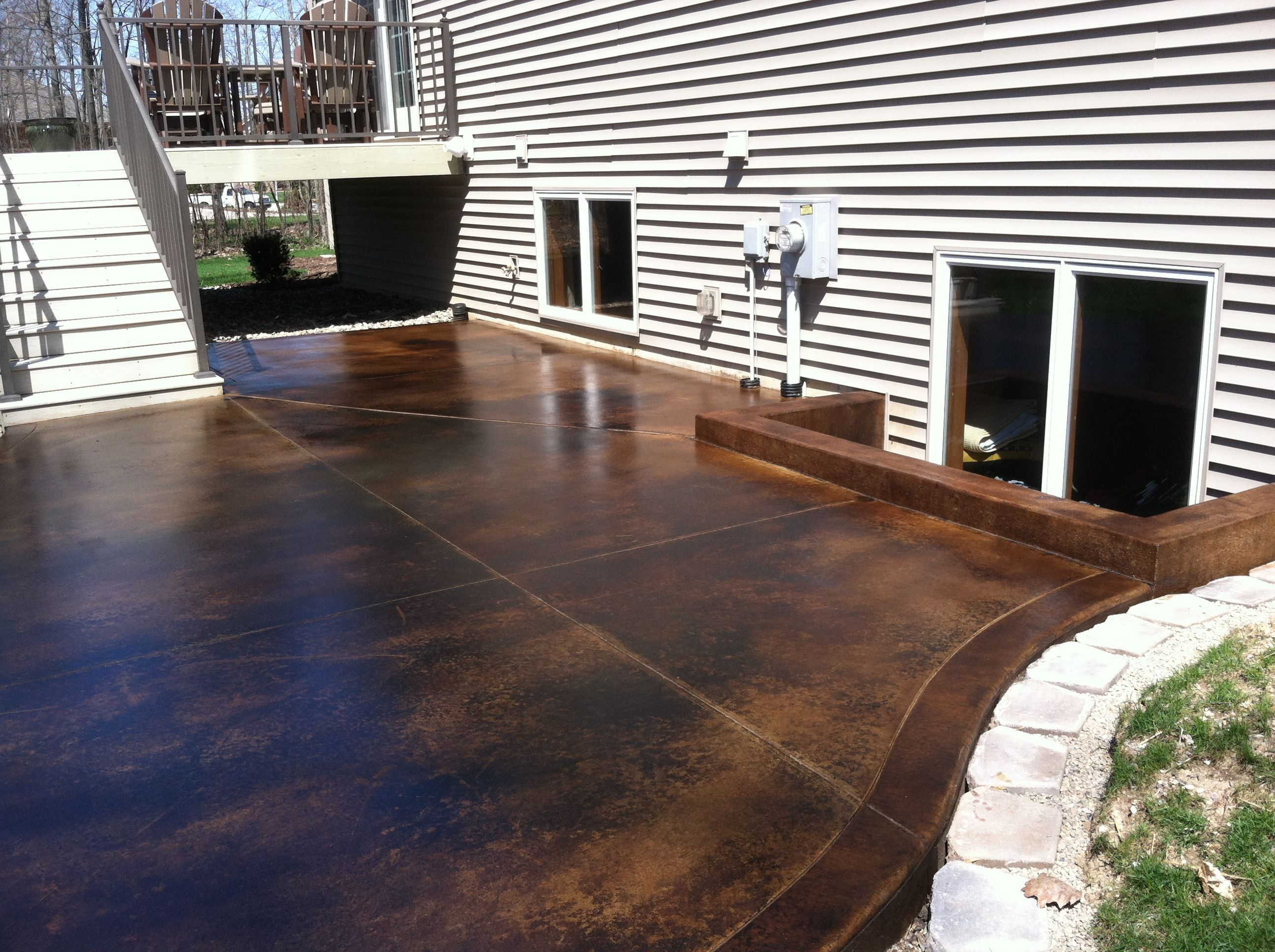 Black Acid Stain Customer Projects  Directcolorscom Concrete Floorsacid