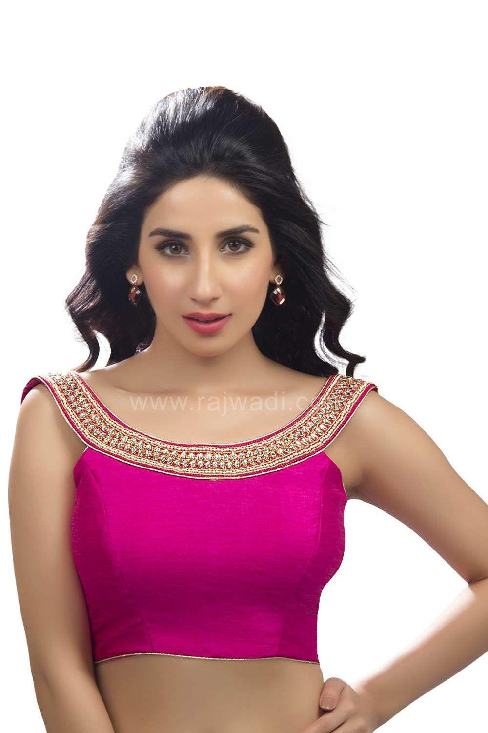 4d953792f6ba5d Designer Hot Pink coloured Ready made Choli | Saree blouse patterns ...