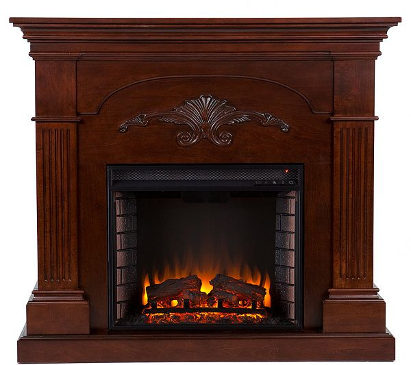 grand bruton mahogany finish electric fireplace electric