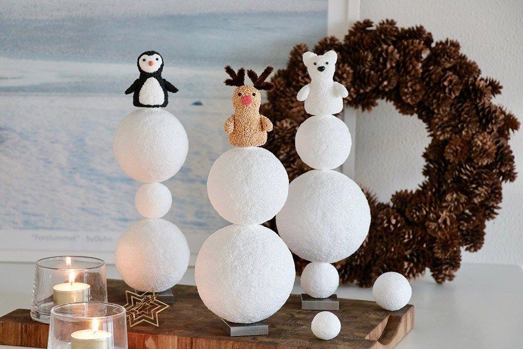 Polarverden - kreativ julepynt med isnende kulde -