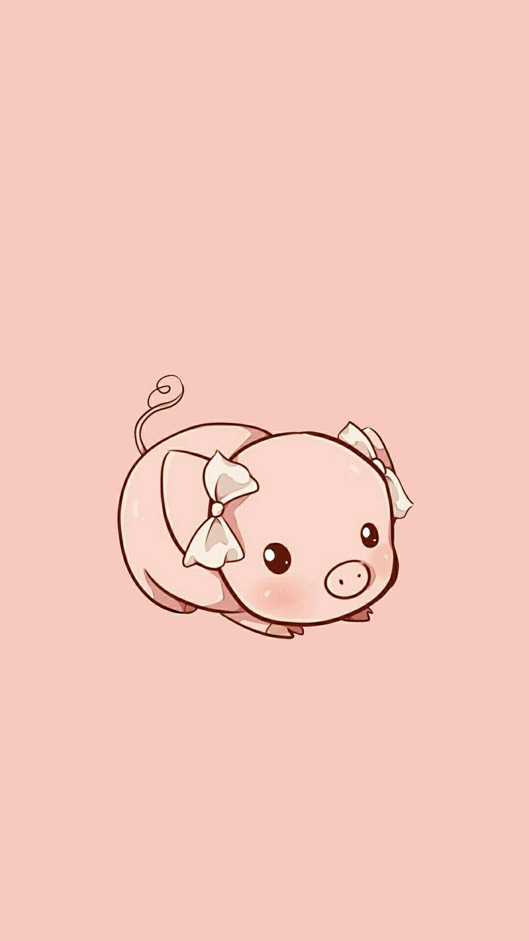 Kawaii Hd Cute Wallpapers Pig Wallpaper Cute Cartoon Wallpapers