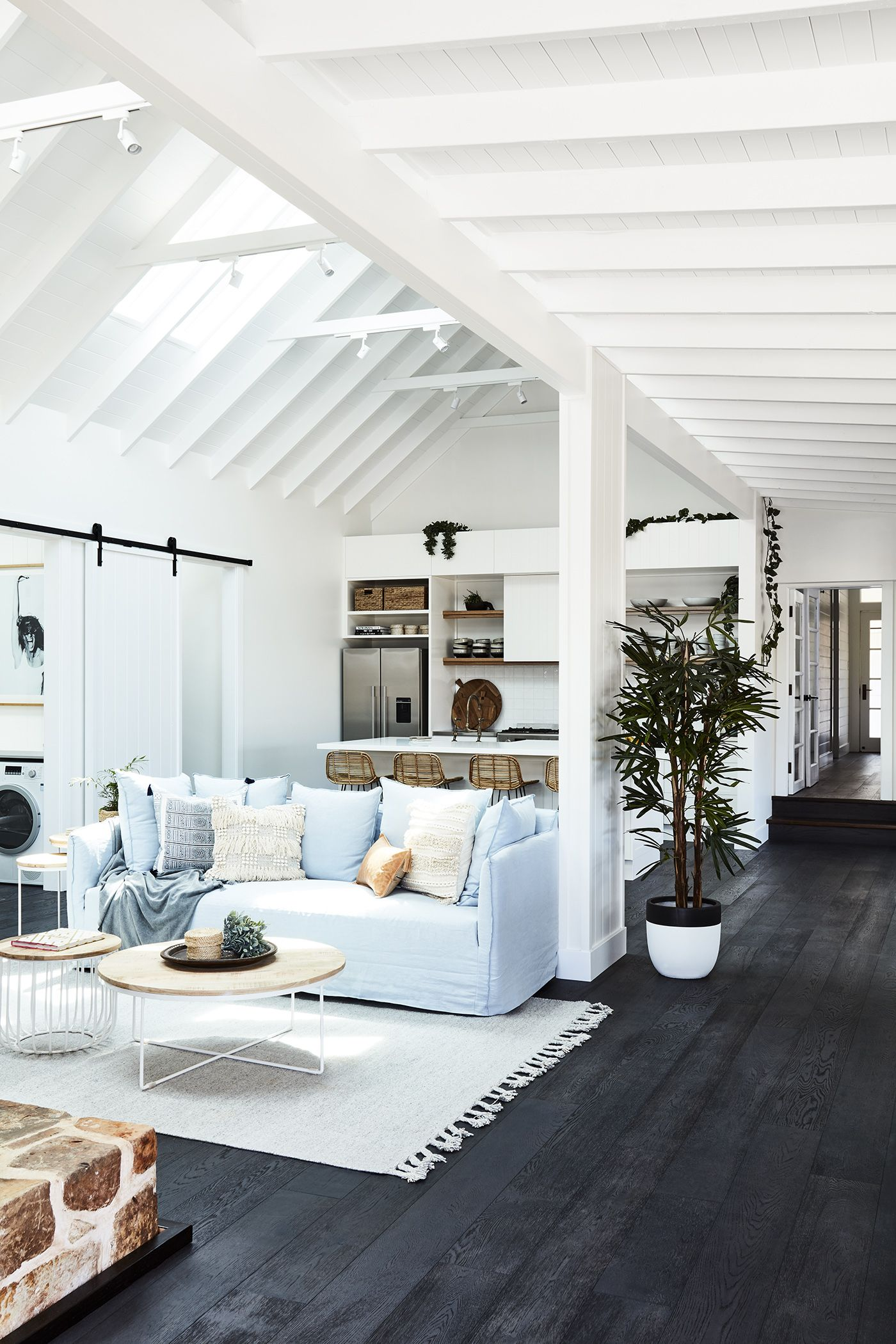 Farmhouse With Soul | Pinterest | Blue couches, Living rooms and ...