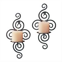 Scrollwork Candle Sconces Set Of 2