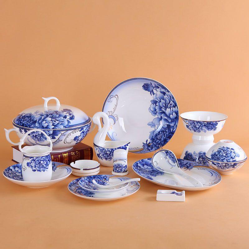 Aliexpress Com Buy 56 4 Blue Ceramic Dinnerware Set Bone China Dishes Dish Quality Porcelain Gift On With Images Ceramic Dinnerware Set Ceramic Dinnerware Dinnerware Set