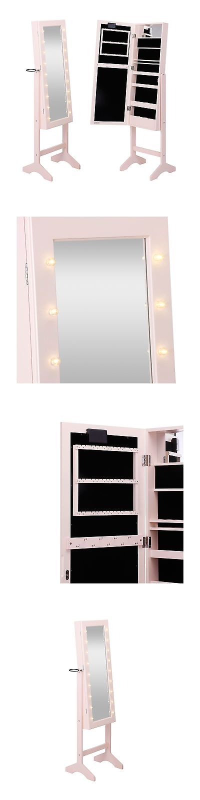 MultiPurpose 168165 Beautify Mirrored Jewelry Armoire With Led
