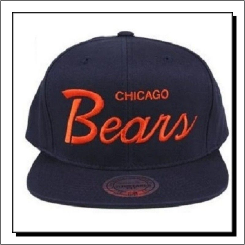 0bc7e1b043cbc8 Chicago Bears: Classic 80s Script Chicago Bears, Script, Snapback, Baseball  Hats,