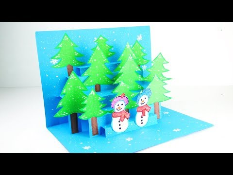 13 3d Christmas Pop Up Card Christmas Pop Up Greeting Card Tutorial Easy Diy Youtube Pop Up Christmas Cards Christmas Card Tutorials Easy Christmas Diy