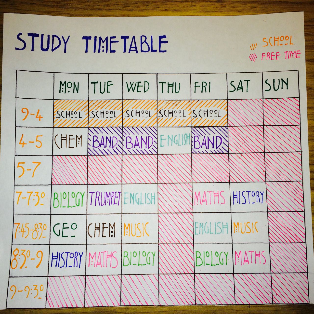 Personal Time Table Format Interesting Don't Stop At Good Become Brilliant Photo  School  Pinterest .